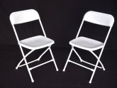 Folding chairs in white or grey