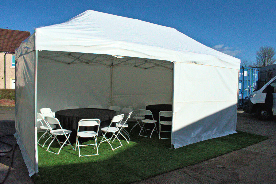 Gazebo/popup marquee 6m x 3m closed front