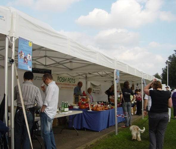 Small marquees and gazebos in a market stall setup number 3
