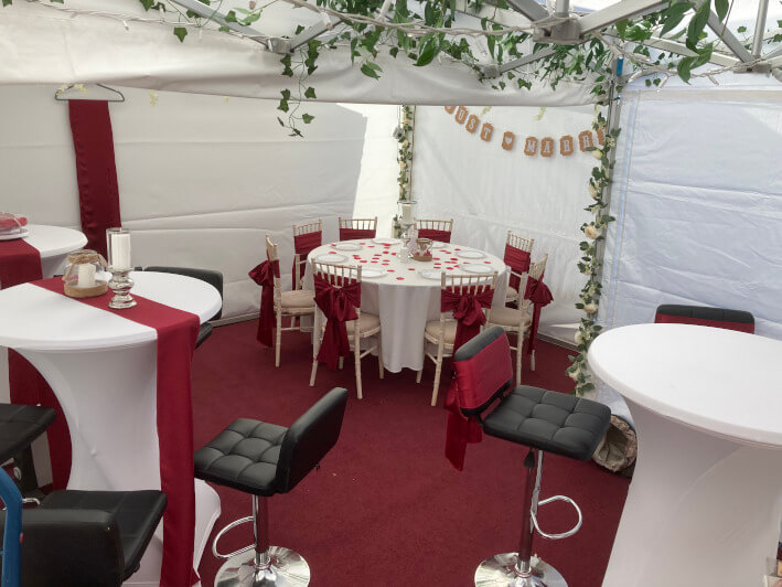 Small marquees and gazebos interior #5