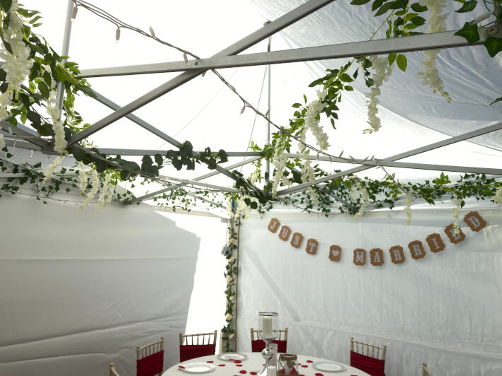 Small marquees and gazebos interior #6