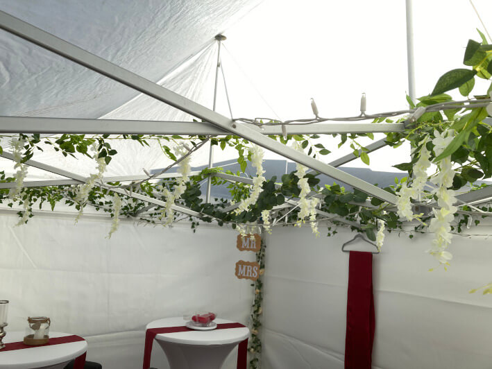 Small marquees and gazebos interior #1